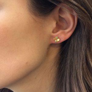 Four Leaf Clover Stud Earrings