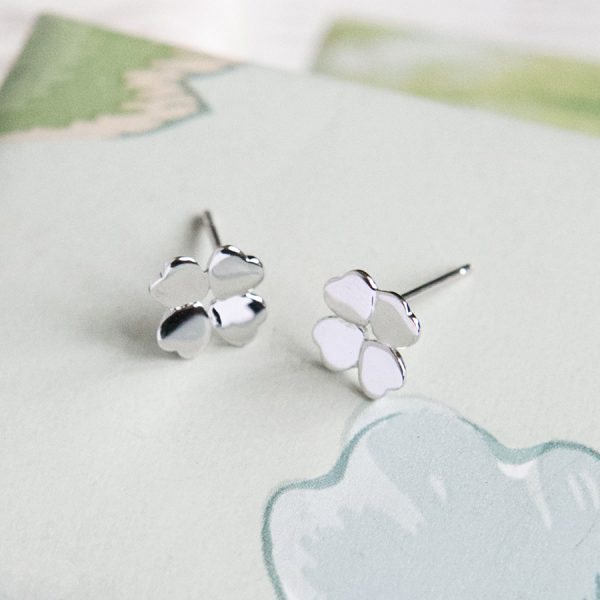 Four-leaf Clover Stud Earrings