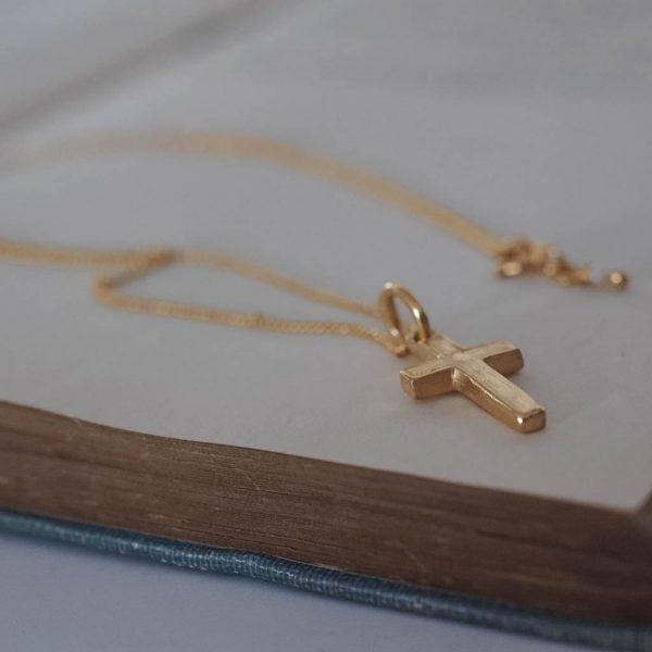 Cross Necklace Gold Vermeil
