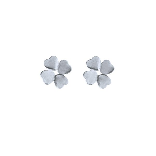 Clover Studs in Sterling Silver