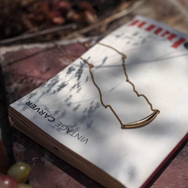 Forever Strong Curve Necklace in Gold Vermeil by Bianca Jones