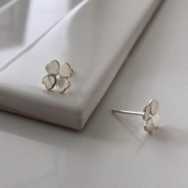 Four Leaf Clover Earrings in Sterling Silver