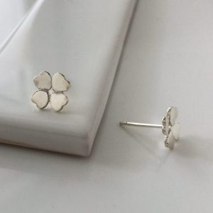 Four Leaf Clover Earrings in Sterling Silver