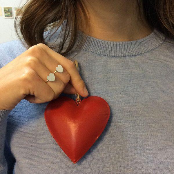 Sterling Silver Love Heart Rings
