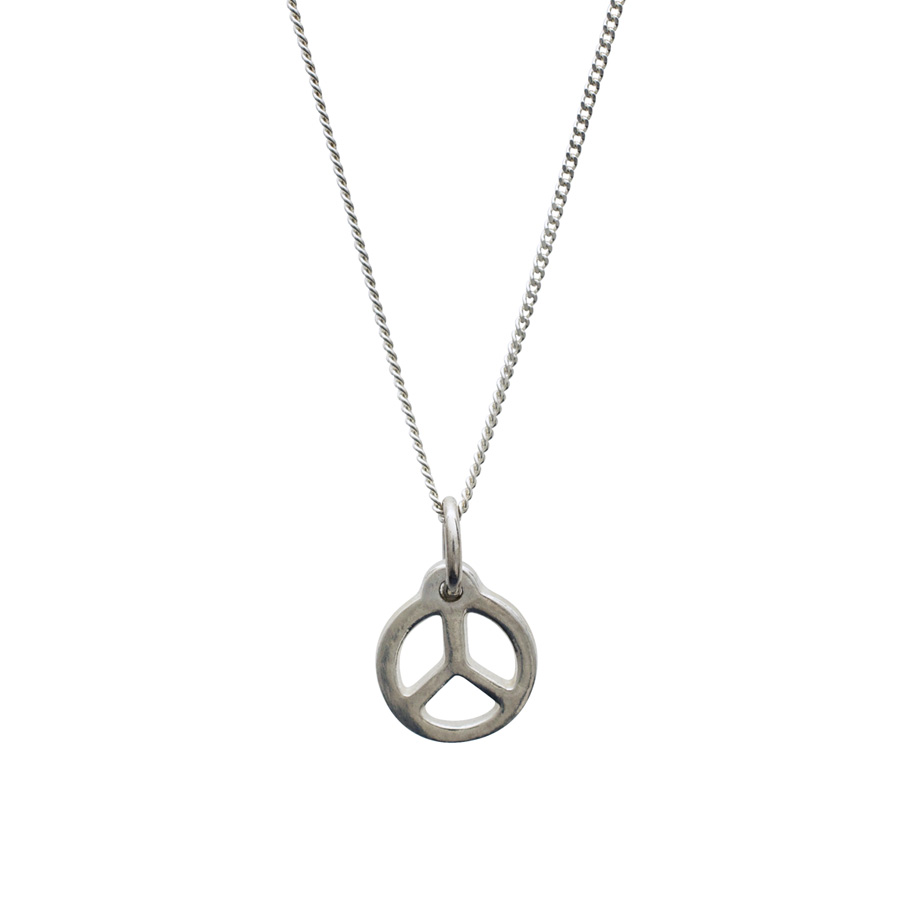 Peace Necklace in Sterling Silver