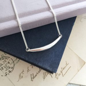 Forever Strong Curve Necklace in Sterling Silver by Bianca Jones