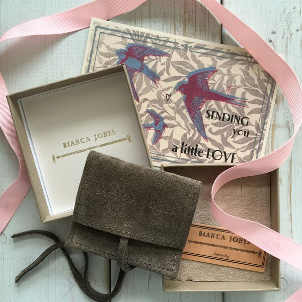Packaging for your 'Love You More' and Love Heart Necklace