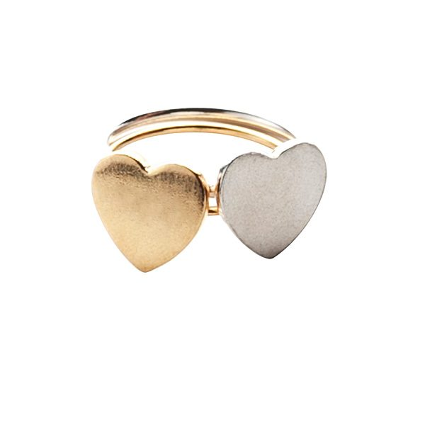 Silver and Gold Vermeil Love Heart Ring