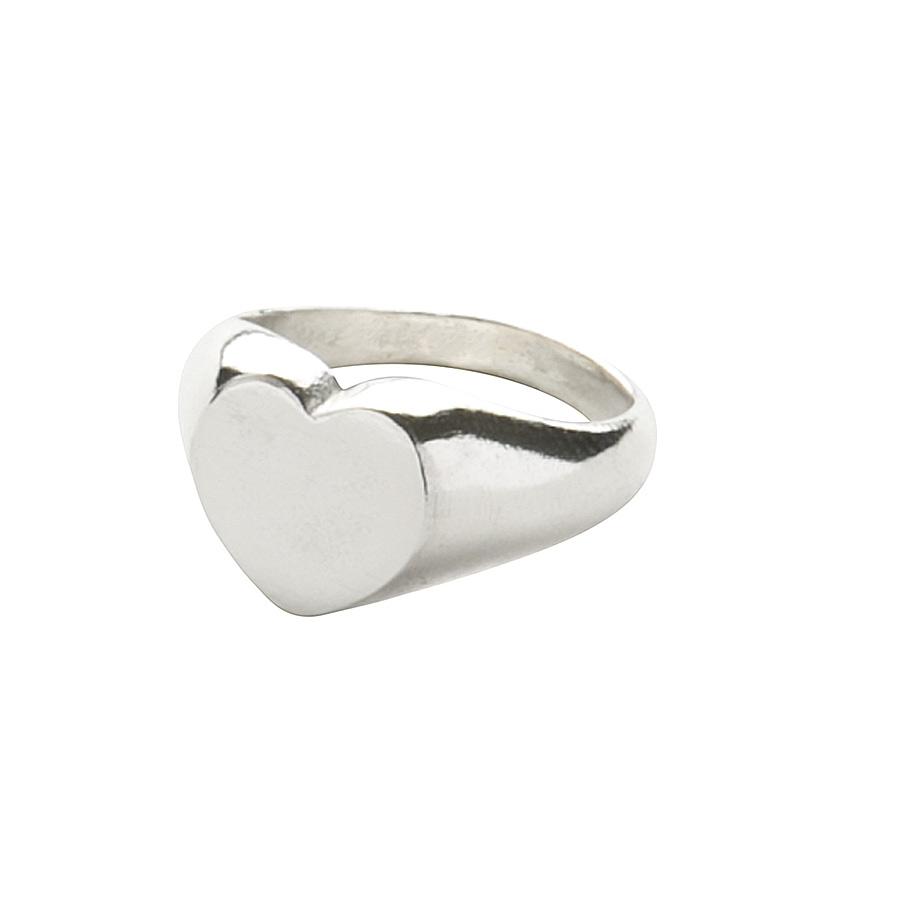 Sterling Silver Heart Signet