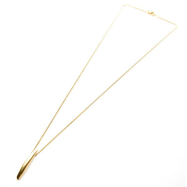 Forever Strong Bar Necklace in Gold