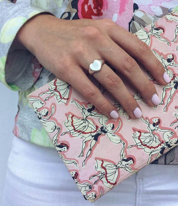 Signet Heart Ring