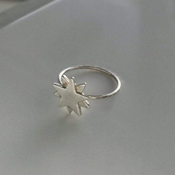 Starbright Ring in Sterling Silver