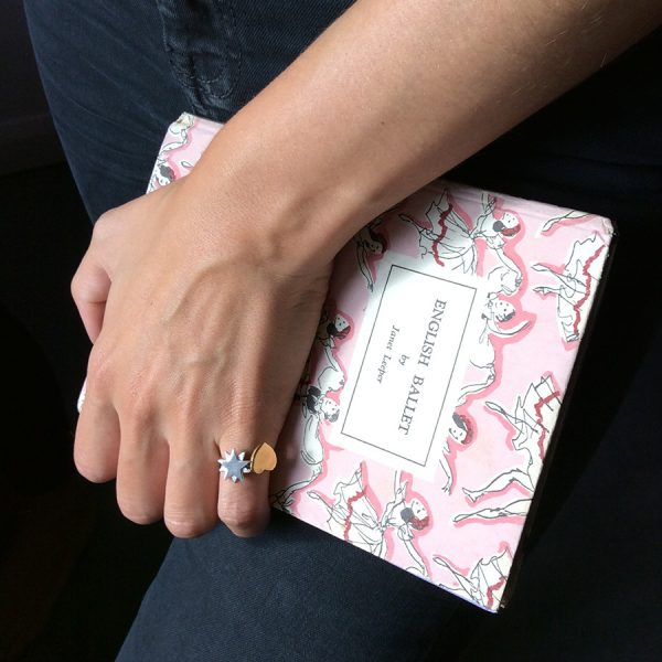 Starbright and Love Heart Ring