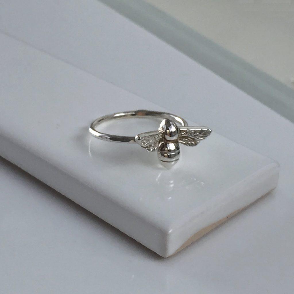 Bee Ring In Silver Or Gold Vermeil Bianca Jones British