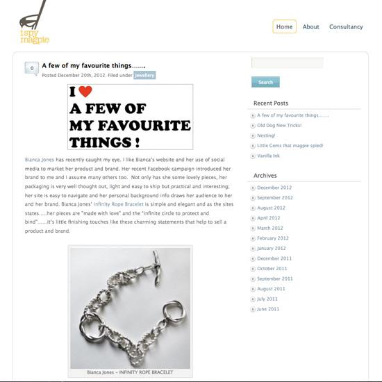 Infinity Rope Bracelet I Spy Magpie