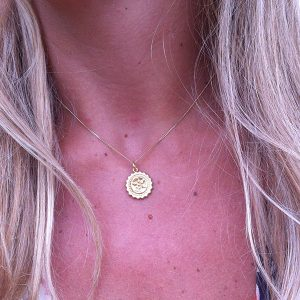 Compass Necklace in Gold Vermeil
