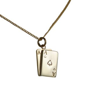 Gold Ace of Hearts Necklace