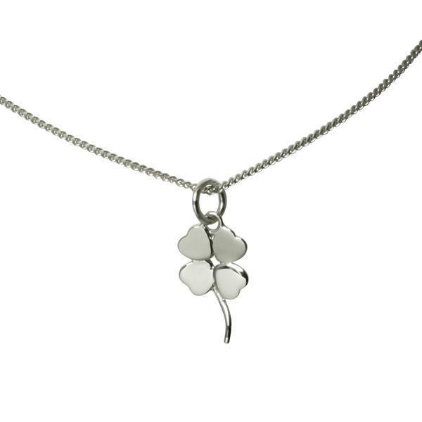 Silver Four Leaf Necklace