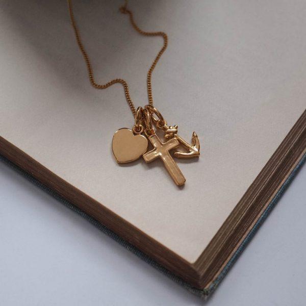 Faith, Hope, Charity Necklace