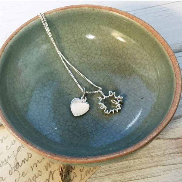 Love You More Duet Necklace in Sterling Silver