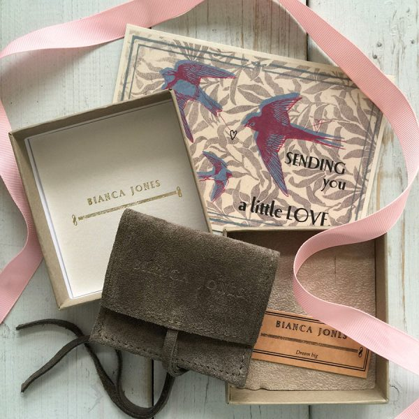 Packaging for your Faith, Hope and Charity Necklace