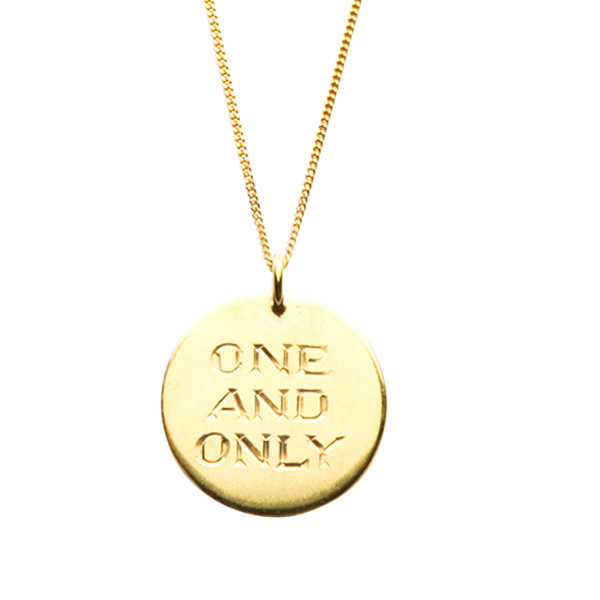 Gold One and Only Necklace