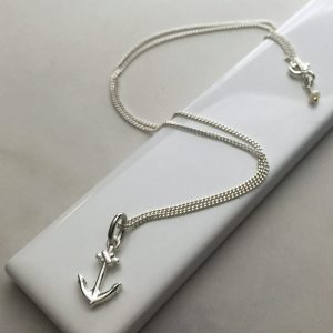 Anchor Necklace in Sterling Silver