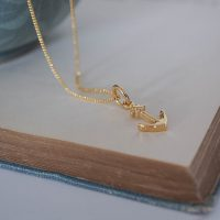 Anchor Necklace in Gold Vermeil