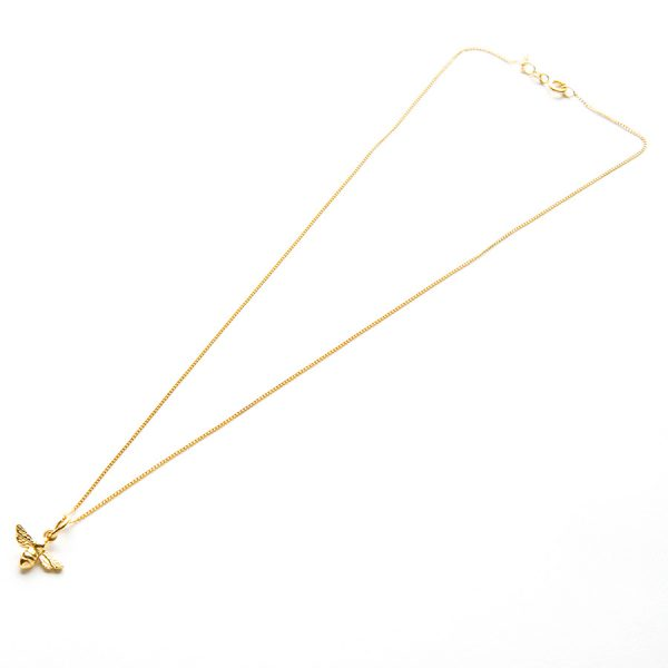 Bumble Bee Necklace in Gold