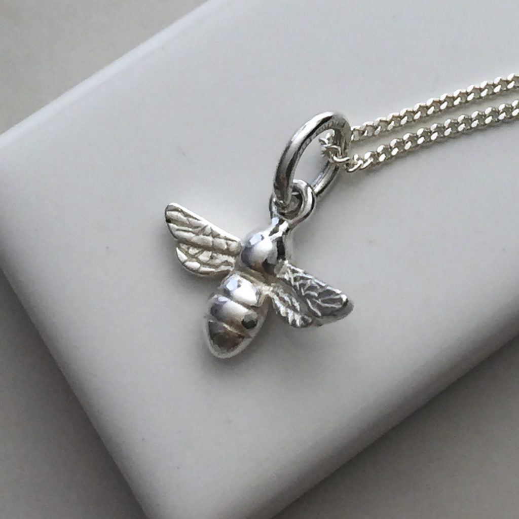 Bee necklace in sterling silver bianca jones british for The sterling