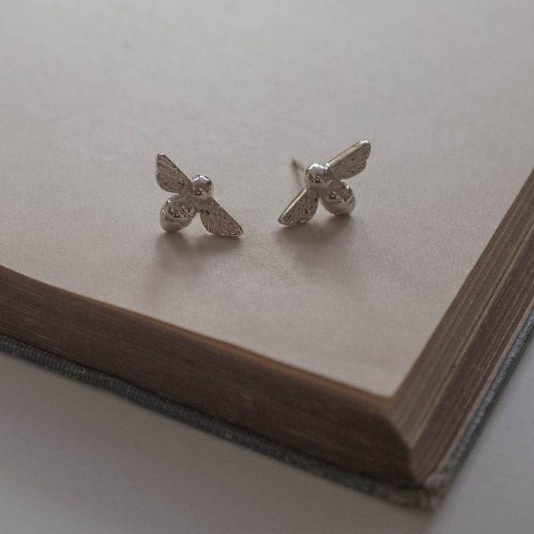 Bee Stud Earrings by Bianca Jones Jewellery