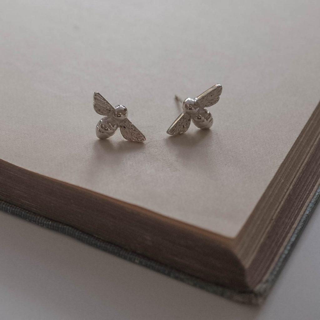 525077215 Bee Stud Earrings by Bianca Jones Jewellery. Bumble Bee Stud earrings. Bee  Stud Earrings in Sterling Silver