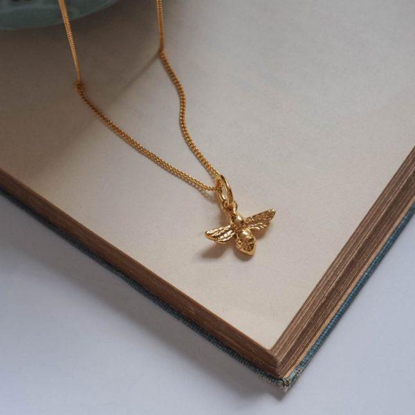 Bee Necklace Gold Vermeil