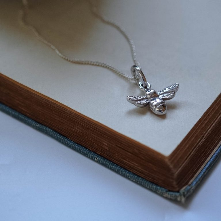 Bee Necklace Sterling Silver