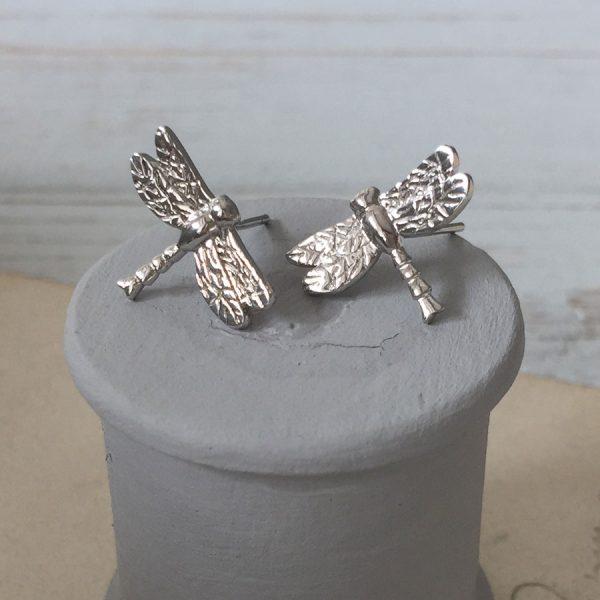 Dragonfly Earrings in Sterling Silver