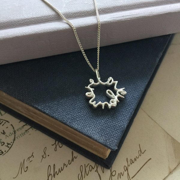 'Love You More' Necklace in Silver