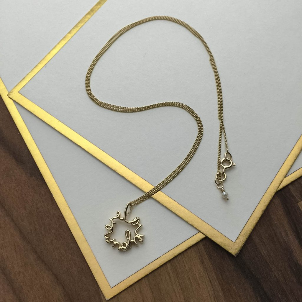 'Love You More' Necklace in Yellow Gold - Bianca Jones ...