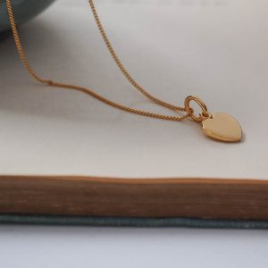 Love Heart Necklace in Gold Vermeil
