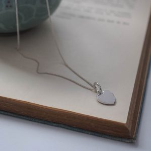 Love Heart Necklace in Silver