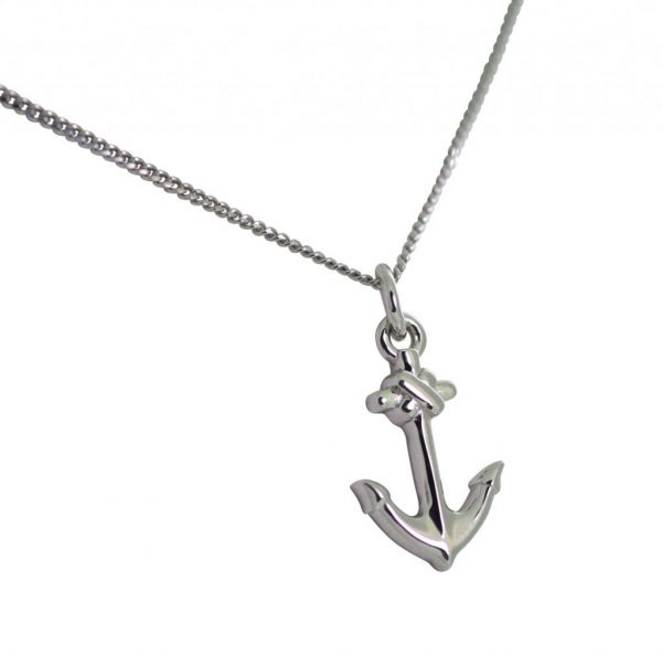 Anchor Necklace in Sterling Silver by Bianca Jones Jewellery