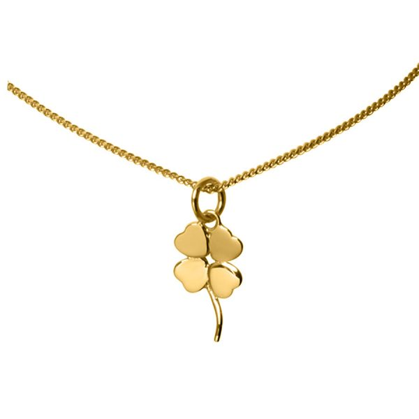 Four Leaf Clover Necklace in Yellow Gold