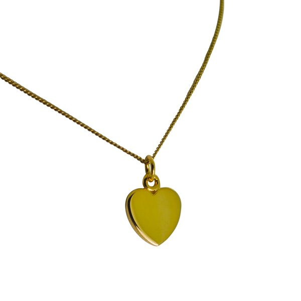 Love Heart Necklace in Gold