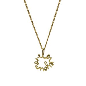 'Love You More' Necklace in Gold