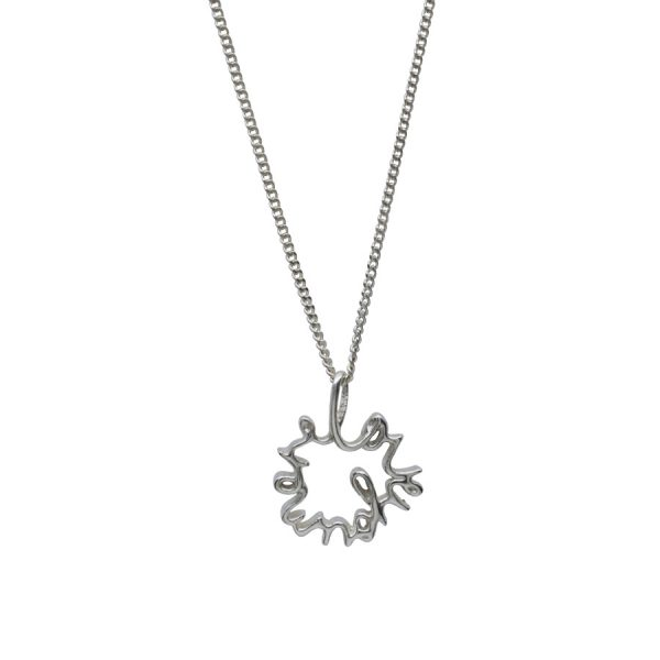 'Love You More' Necklace in Sterling Silver