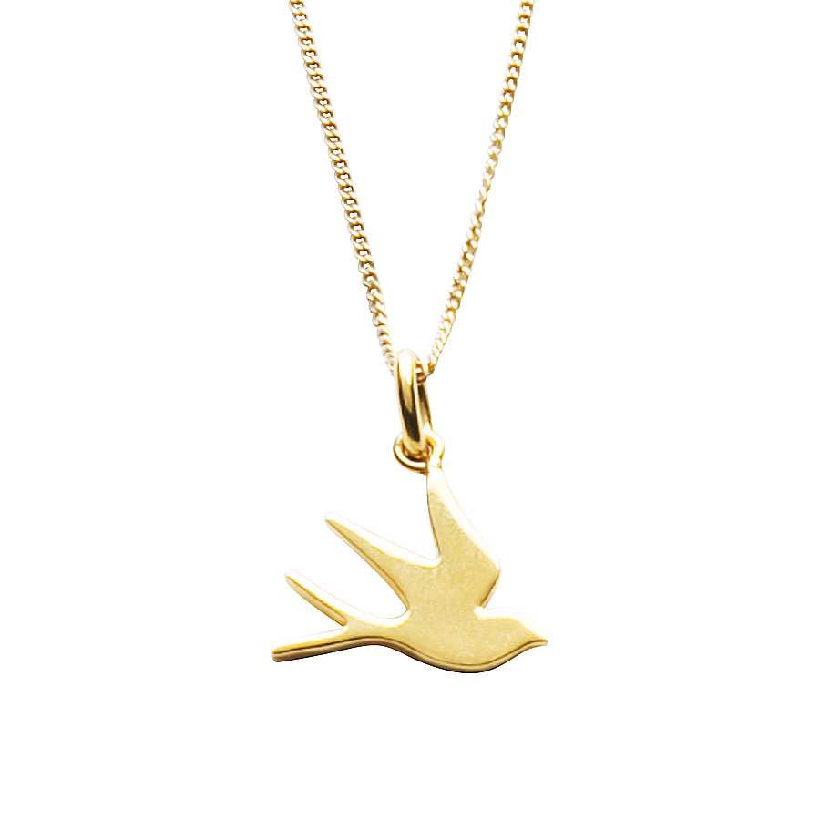 Silver Swallow Necklace 92