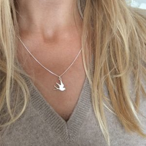 Swallow Silver Necklace by Bianca Jones Jewellery