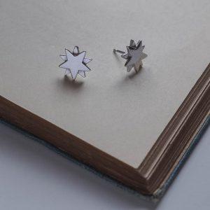 Starbright Stud Earrings in Sterling Silverl by Bianca Jones Jewellery