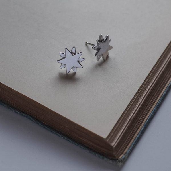 Starbright Stud Earrings in Sterling Silverl by Bianca Jones Jewellery