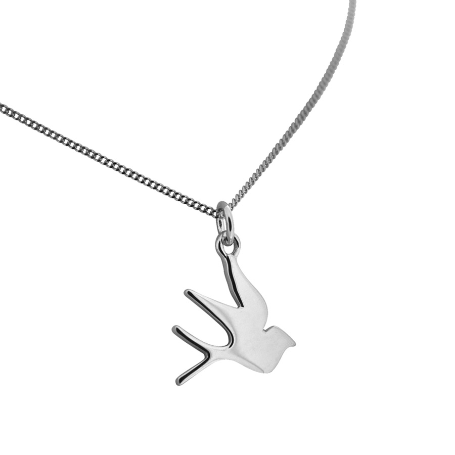 Swallow necklace in silver or gold vermeil bianca jones jewellery silver packaging mozeypictures Gallery