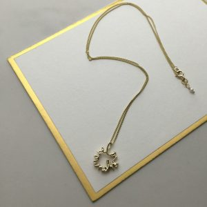 Love you more necklace in solid gold